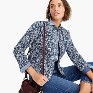 Point Sur J Crew M Quilted Lady floral Jacket